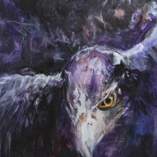contemporary eagle, purple
