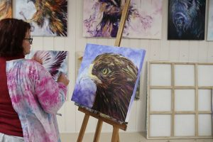 eagle, learning to paint