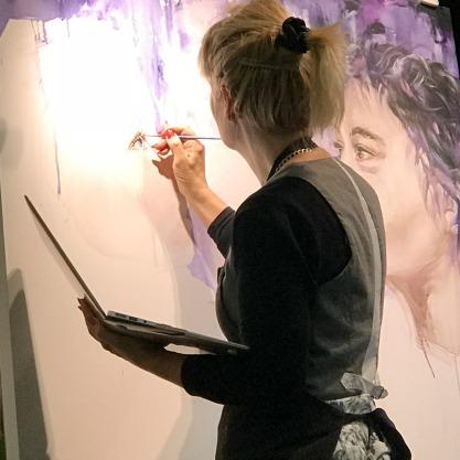 live painting, christchurch tauranga