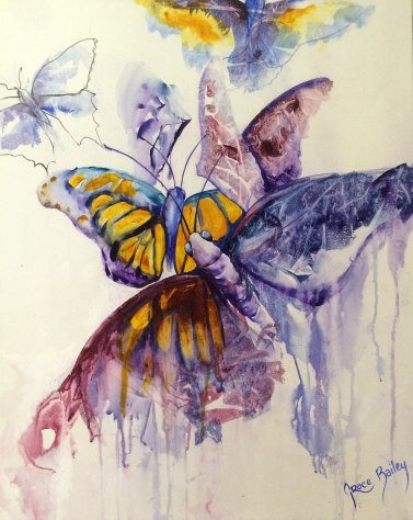 butterflies in memoriam for deceased daughter