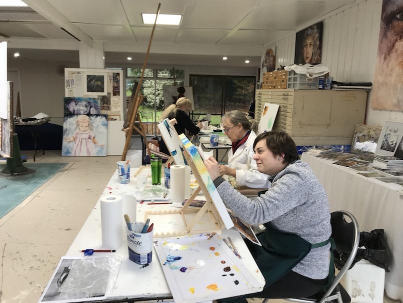 painting workshop, supernatural