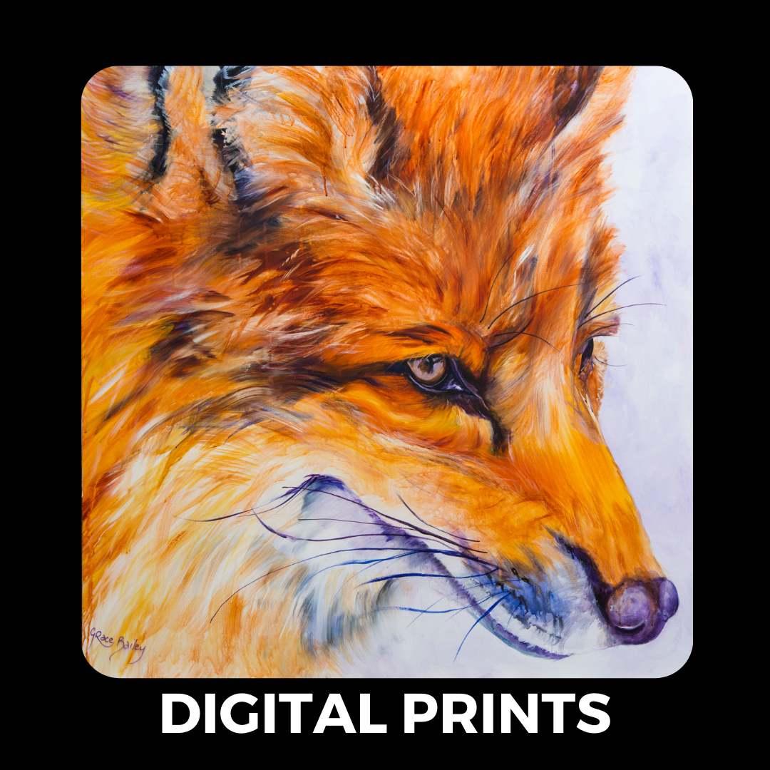 digital prints tile button