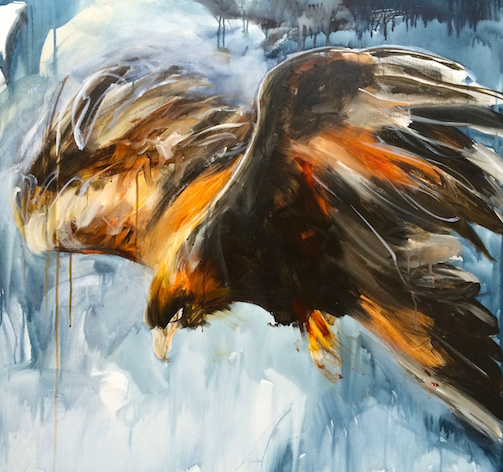 Eagle Rising, Eagle in flight, prophetic painting