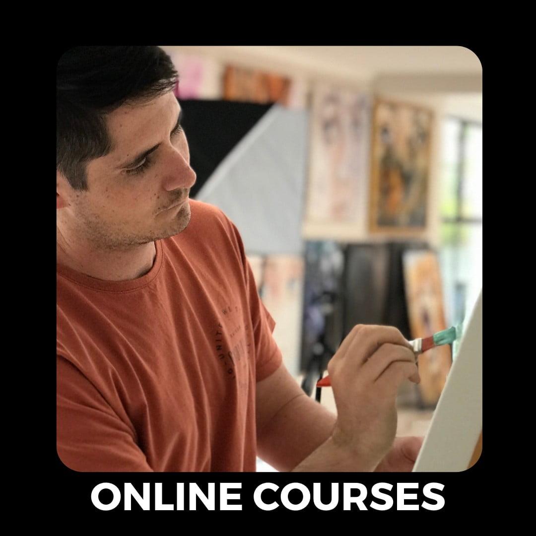 online courses tile button