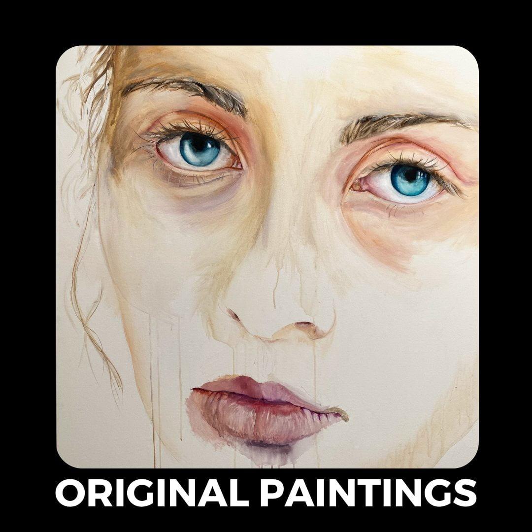 original paintings tile button