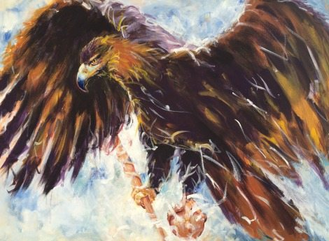 Carrier of Authority, eagle in flight, sceptre