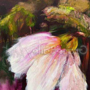 cyclamen, flower, flower painting