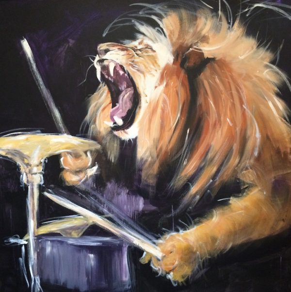 The Power of Worship, lion of judah, drummer, lion playing drums
