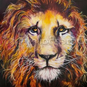 hope, lion, king of the jungle, lion of Judah, lion painting