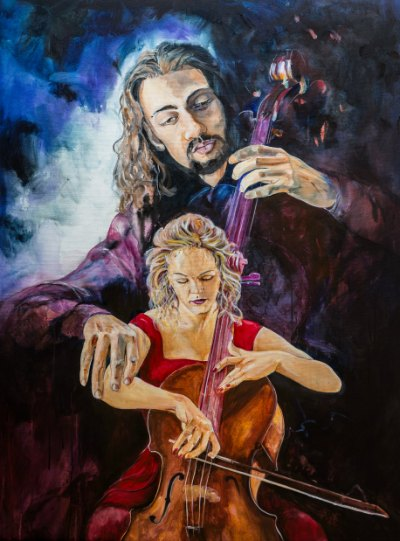 Jesus playing through us, cello