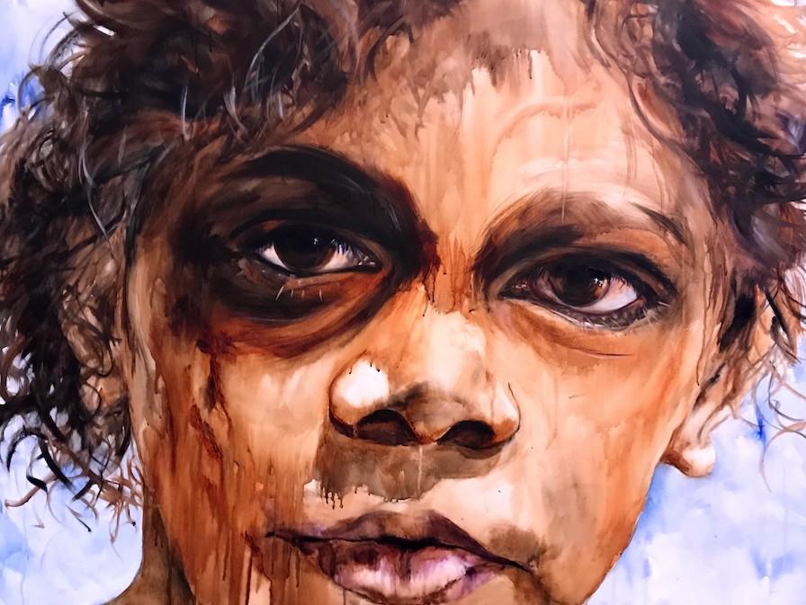 indigenous, aboriginal, boy, show me your glory, worship art, prophetic art