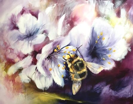 bee, honey, flower, goodness of God