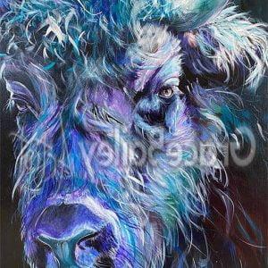 yak, yak painting, animal