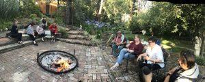 fun in the sun, firepit, Grace Bailey painting retreat