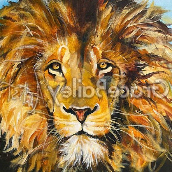 Leo, lion, lion of Judah, king of jungle, lion painting