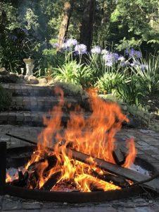 fire, Grace Bailey painting retreat