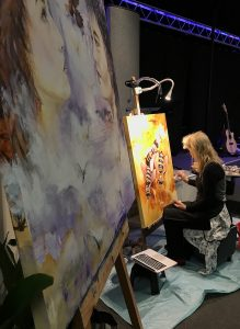 live painting, sotn conference, bees