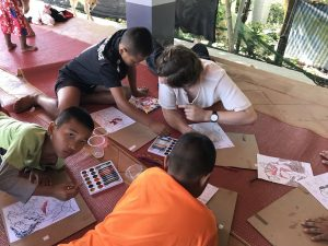 teaching art thailand