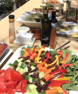 foods in the table, Grace Bailey painting retreat