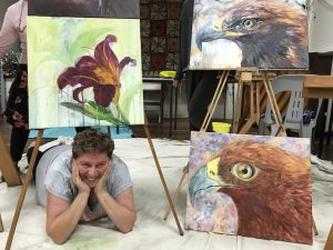happy painter, eagles,