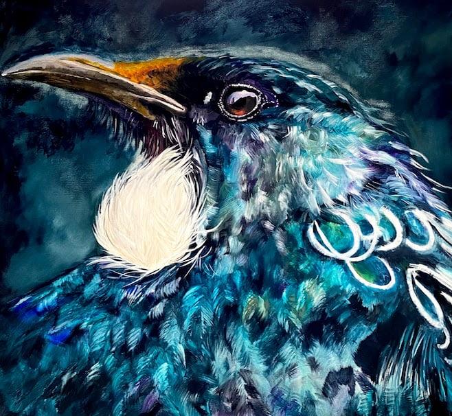 tui, bird, Grace Bailey Painting